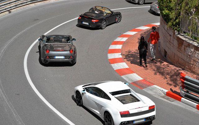 Bouchons dans Monaco.