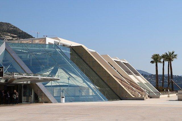 Entrée du forum Grimaldi à Monaco.